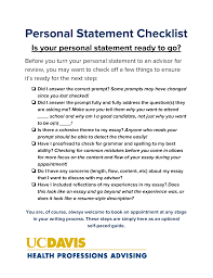 personal statement health professions advising personal statement handout