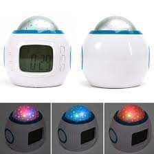 Büyüleyici Sky Yıldız Çocuk Bebek Odası Gece ışık Projektör Lambası Yatak  Odası Müzik çalar Saat 7 Renk Değişimi Projeksiyon çalar Saat  Limitedchoices.news