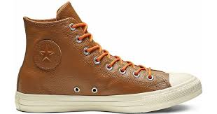 converse chuck taylor all star limo leather high top in brown for men lyst