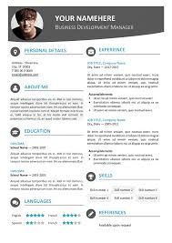 Hongdae is a free modern resume template. One-page clean with colored top  banner.