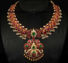 latest indian gold and diamond jewellery designs peacock