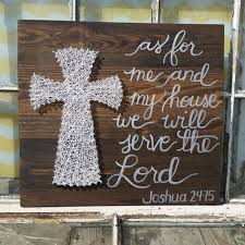 as for me and my house we will serve the lord large string on religious wall art crosses with as for me and my house we will serve the lord large string art
