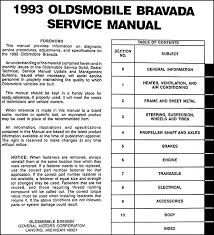 1993 oldsmobile bravada repair shop manual original this manual covers all 1993 oldsmobile bravada models if you have a 1994 bravada you ll need this book plus the supplement for 1994