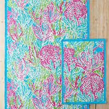lilly pulitzer let s cha cha cotton printed rug