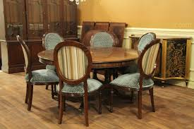 awesome round 6 chair dining table with large inch expandable mahogany of pictures
