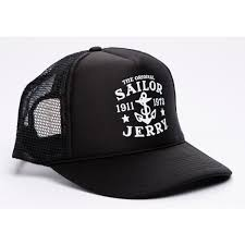 Sailor Jerry Trucker black Black Hat, Graphc Caps \u0026 Accessories - Clothing