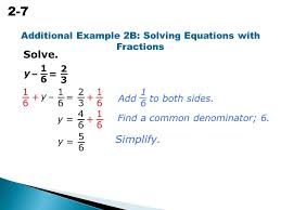 2 7 solving equations with rational numbers 1616 2323 y additional example 2b