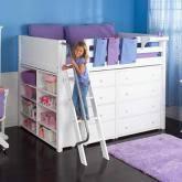 loft storage bed. quick view · maxtrix kids mid loft storage bed for girls (white) (634)