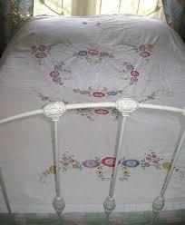 vintage embroidered bed sheet