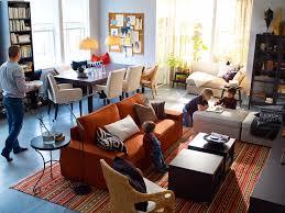 Ikea living room idea - warm and casual