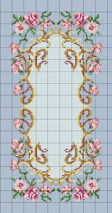 Charted Wool Latch Hook Kits In Floral Designs