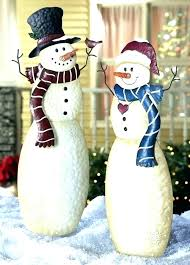 outdoor snowman decorations tall inflatable holding gift ornaments lighted outdoor snowman decorations