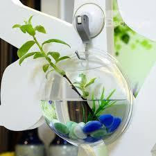 70 creative acrylic wall flower vase mini fish bowl green plants terrarium