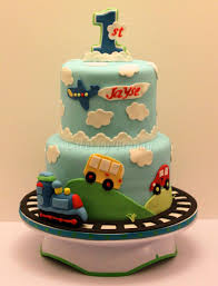 Trains Planes And Automobiles First Birthday Cake Cakes By