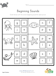 Esl phonics & phonetics worksheets for kids download esl kids worksheets below, designed to teach spelling, phonics, vocabulary and reading. Ocean Beginning Sounds Worksheet All Kids Network