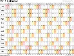 Employee Attendance Calendar 2017 Employee Attendance Tracker