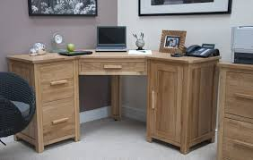 furniture simply corner office table with unfinished wooden laptop desk with drawers and small cabinet