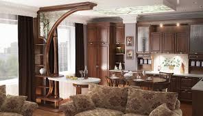 Ruimtelijke Ordening Van De Keuken En De Woonkamer 64 Fotos