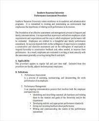 Employee Performance Assessment Examples Free 19 Performance Assessment Examples In Pdf Examples