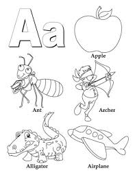 Pass out the letter you are working on and students will color the pictures that all. Printable A Z Coloring Pages Alphabet Coloring Pages Abc Coloring Letter A Coloring Pages