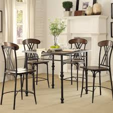 Industrial Counter Height Dining Table Oxford Creek Audra 5 Piece Rustic Industrial Counter Height Dining