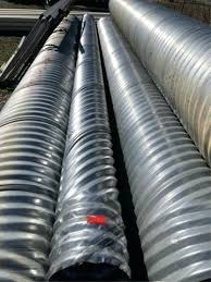galvanized culvert pipe lot corrugated drainage home depot sizes menards