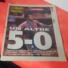 el mundo deportivo FC Barcelona 5 Real Madrid 0 un altre 9 enero 1994