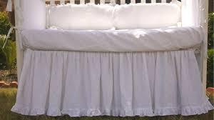 crib bed skirt with ruffle hem custom