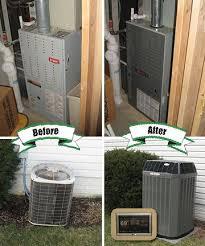 trane furnace and ac. trane xl20i air conditioner, xv80 gas furnace, xl950 thermostat control and honeywell f100 furnace ac a
