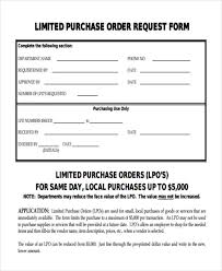 Local Purchase Order Form