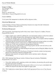 Day Care Provider Resume Childcare Worker Resume Day Care Worker