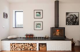 Modern Wood Burner Fireplace Designs Wood Burning Stove In Modern Apartment Design Post