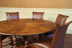 Large Round Solid Walnut Dining Table With Hidden Leaves  To - Walnut dining room furniture
