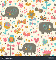 Owl Bedroom Wallpaper Cartoon Seamless Pattern Childrens Wallpapers Cute Stock Vector