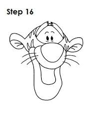 tigger drawings step by step. Plain Tigger How To Draw Tigger On Tigger Drawings Step By 6