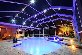pool cage lighting diy nebula