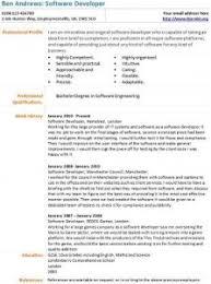 Software Developer Resume Example Sarahepps Com