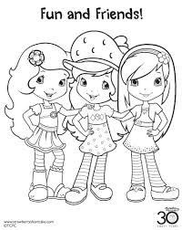 Small Picture 12 Strawberry Shortcake Birthday Party Printable Coloring Pages