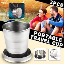 <b>Outdoor</b> Foldable <b>Stainless Steel</b> 60ml-75ml <b>Telescopic</b> Cup Pocket ...