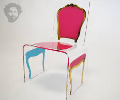 pink and gold deconstructed louis chair