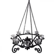 pillar candle chandelier wrought iron country chandeliers rustic diy gazebo lighting backyard landscape outdoor patio