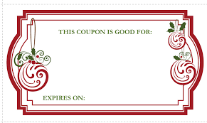 Christmas Gift Coupon Christmas Gift Coupons Printable Life With Lovebugs