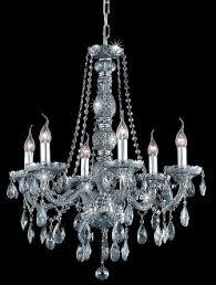 verona silver shade crystal chandelier w 6 lights in silver crystal chandelier c73