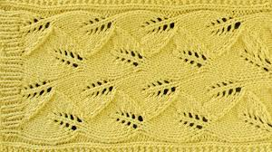 Leaf Knitting Pattern Custom LACE LEAF SCARF Lace Knitting Repeat Explained Stitch By Stitch