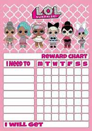 Lol Reward Chart Free Stars Pen 3 Sizes Magnetic Option