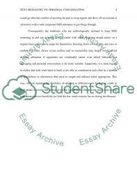 text messaging vs personal conversation essay example topics   text preview