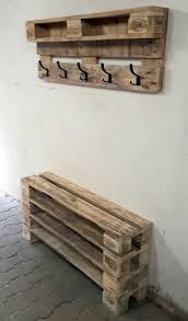 pallet furniture ideas pinterest. DIY Wooden Pallet Coat Hook And Shoe Bench Furniture Ideas Pinterest P
