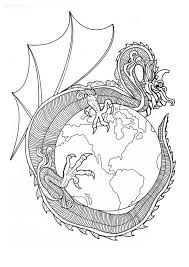 Small Picture Dragon of world mandala coloring pages Hellokidscom