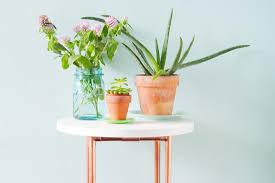 diy copper leg side table