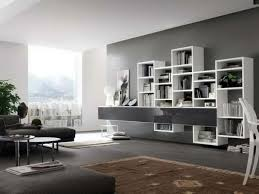Modular Wall Shelves 30 interior design ideas for wall paint in shades of  gray - trendy color design